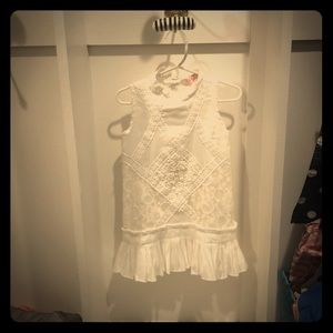 2T toddler white linen dress